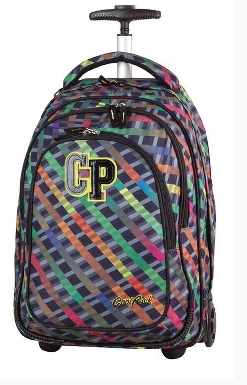 Plecak młodzieżowy na kółkach CoolPack Target Rainbow Stripes