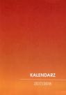 Kalendarz 2017/2018 nauczycielski pomarańczowy