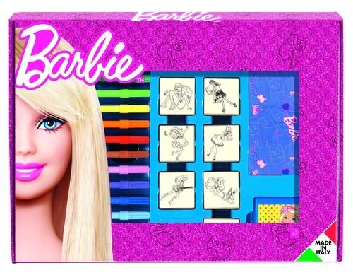 Pieczątki w walizce maxi Barbie