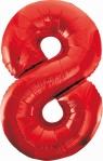 Balon foliowy Godan cyfra 8 czerwona  85cm (BCHCW8)