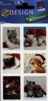 Naklejki świąteczne Z Design Christmas Kot Mikołaj
