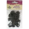 Pompony brokat 1,8cm czarne 15szt.16077D