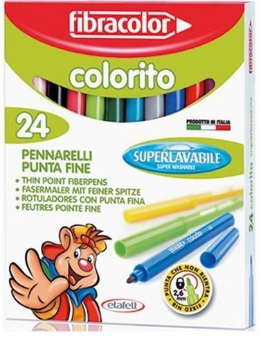Pisaki Colorito 2,6mm 24 kol. FIBRACOLOR