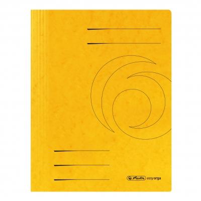 Skoroszyt A4 sprężynowy żółty Colorspan .