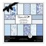 Zestaw papierów 20,3X20,3 CM CAPSULE BURLEIGH BLUE (32kartki)