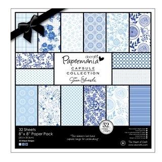 Zestaw papierów 20,3X20,3 CM CAPSULE BURLEIGH BLUE (32kartki) PMA-160310