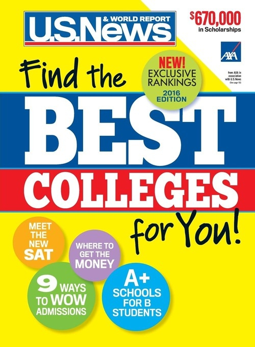 Best Colleges 2016 U.S. News and World Report