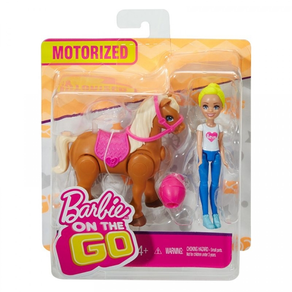 Barbie On The Go Kucyk z lalką (FHV60)