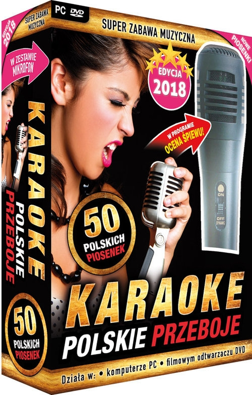 Karaoke Polskie Przeboje edycja 2018 z mikrofonem (PC-DVD) (Uszkodzone opakowanie)