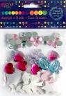 Naklejki z pianki i kryształy 72 szt PRINCESS