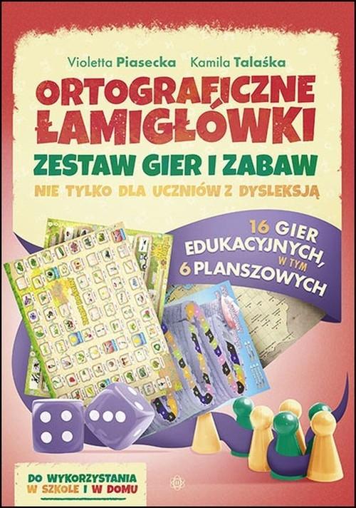 Ortograficzne łamigłówki Zestaw gier i zabaw Piasecka Violetta, Talaśka Kamila