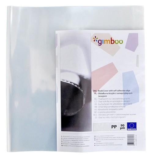 Okładka na książki GIMBOO A4 z samoprzylepnym brzegiem 30,5x55 cm transparentna 10 sztuk (2338BTS15PL-00)