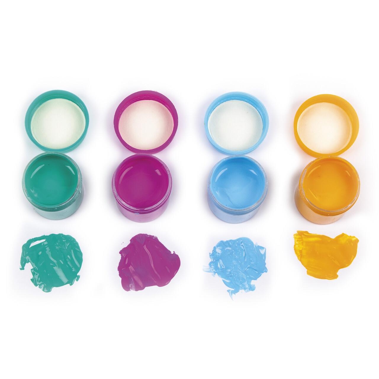 Farby plakatowe pastelowe Kidea, 24 kolory x 10ml (FPP24KKA)