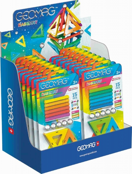 Geomag Rainbow - 15 elementów MIX
