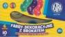 Farby plakatowe 6 kolorów 10 ml Brokat