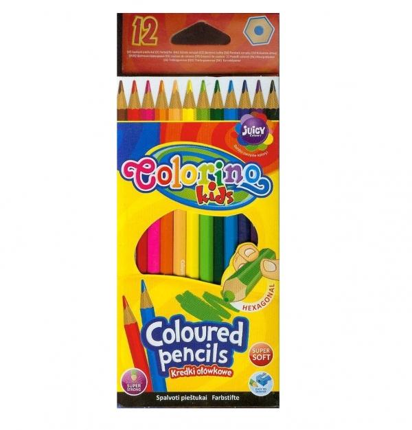 Kredki ołówkowe heksagonalne Colorino Kids, 12 sztuk (14687PTR)