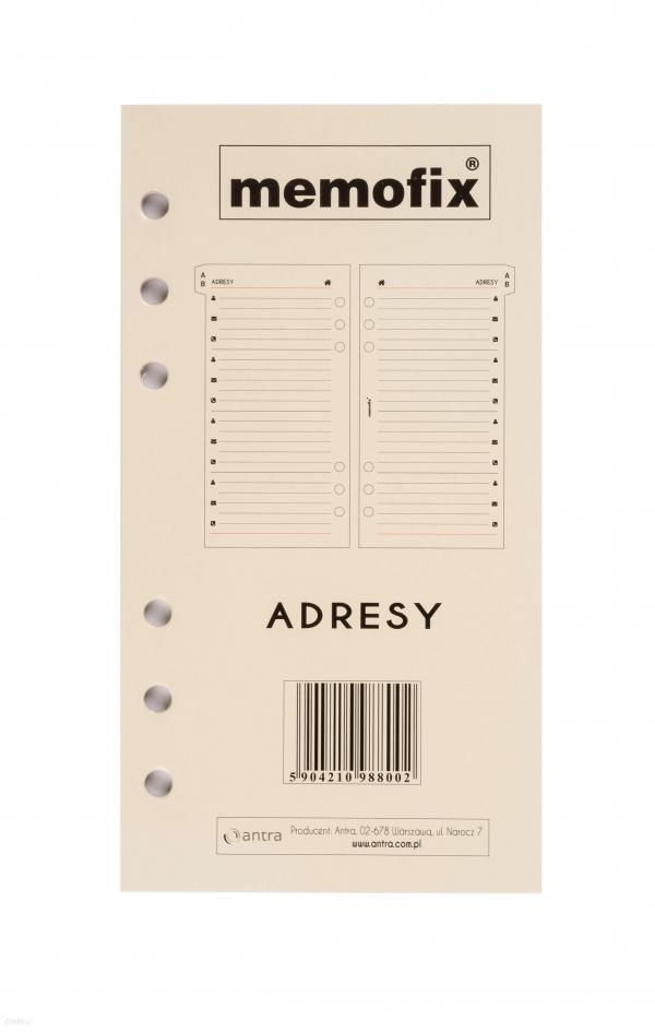 Wkład do organizera Memofix Adresy