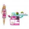 Barbie: Kwiaciarnia - zestaw + lalka (GTN58)