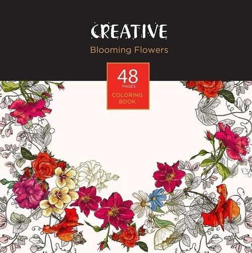 Książeczka do kolorowania dla dorosłych Creative Blooming Flowers
