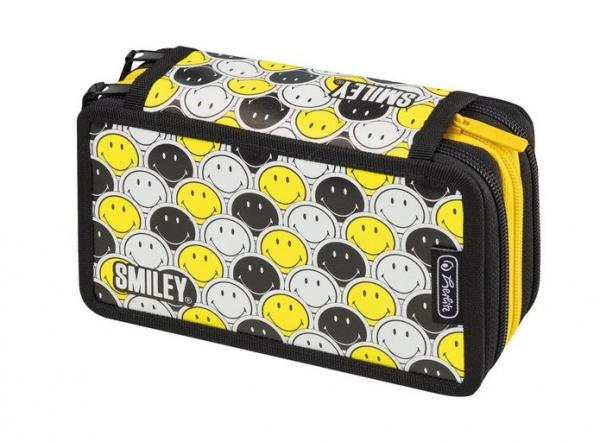 Piórnik potrójny z wyposażeniem 31 elementów Smiley B&Y Faces (50015429)