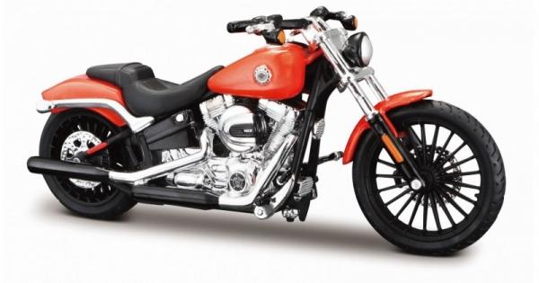 Motocykl HD 2016 Breakout pomarańczowy 1/18 (10139360/77068)