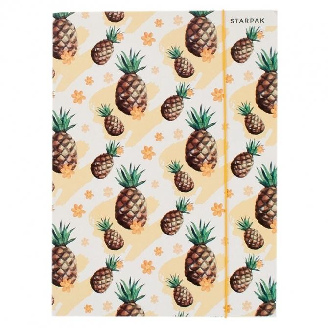 Teczka z gumką A4 kaktus/ananas (441058)