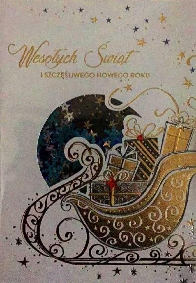 Karnet Boże Narodzenie B6 Premium 23 + koperta