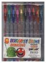 Długopisy żelowe brokatowe Fun&Joy 10 kolorów