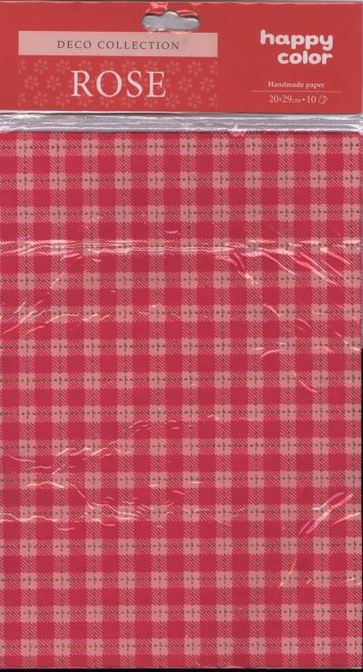 Papiery ozdobne Rose kratka - różowa 20x29 cm 10 arkuszy