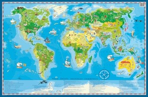 Świat podkładka na biurko i pod mysz dla dzieci ArtGlob