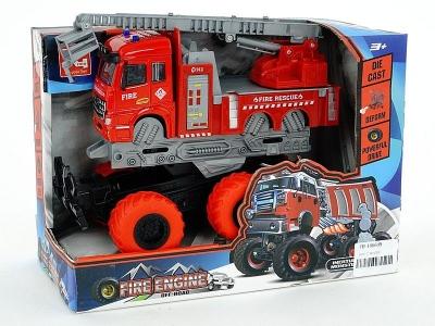 Samochód strażacki Adar metalowa na dużych kołach (530690)
