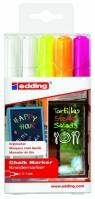 Markery Edding okrągła końcówka 5 kolorów (4095/5S ED)