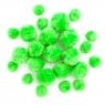 Pompony akrylowe mix zielone 24 szt. (KSPO-015)