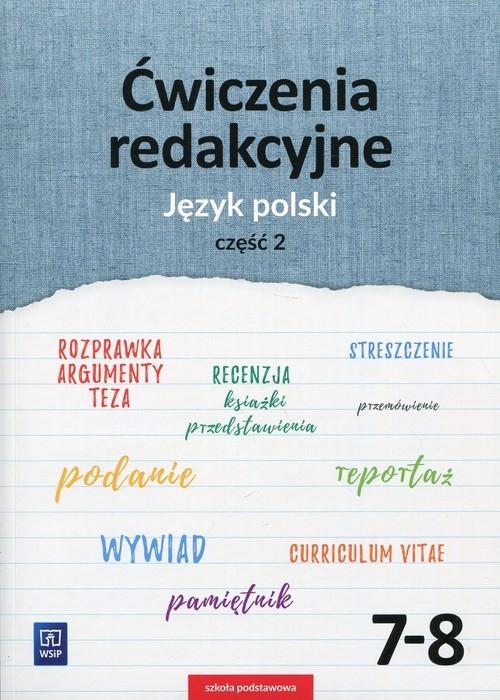 Ćwiczenia redakcyjne. Język polski. Zeszyt ćwiczeń. Część 2. Szkoła podstawowa Surdej Beata, Surdej Andrzej