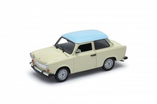 Model kolekcjonerki Trabant 601, kremowy z niebieskim dachem (24037-1)