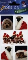 Naklejki świąteczne Z Design Christmas Szczeniaczki Mikołaje