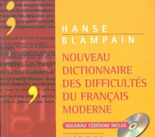 Nouveau Dictionnaire des difficultes du Francais moderne + płyta CD ROM Blampain Daniel, Hanse Joseph