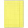 Teczka z gumką A4 w kratę żółta 25 sztuk