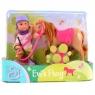 EVI Pony Lalka z Koniem, jasny brąz (105737464)