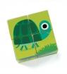 Drewniane klocki puzzle Zwierzątka (DJ01901)