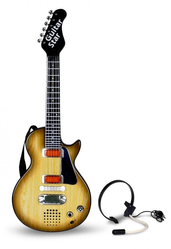 Zabawkowa gitara elektryczna z mikrofonem
