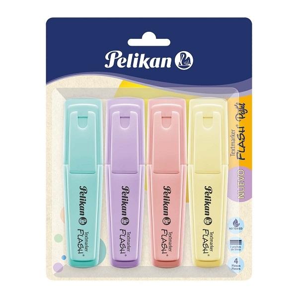 Zakreślacze Pelikan Signal Pastel, 4 kolory (60078801)