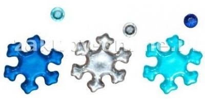 Kryształki samoprzylepne niebieskie śnieżynki i kółka mix 20szt. 282736