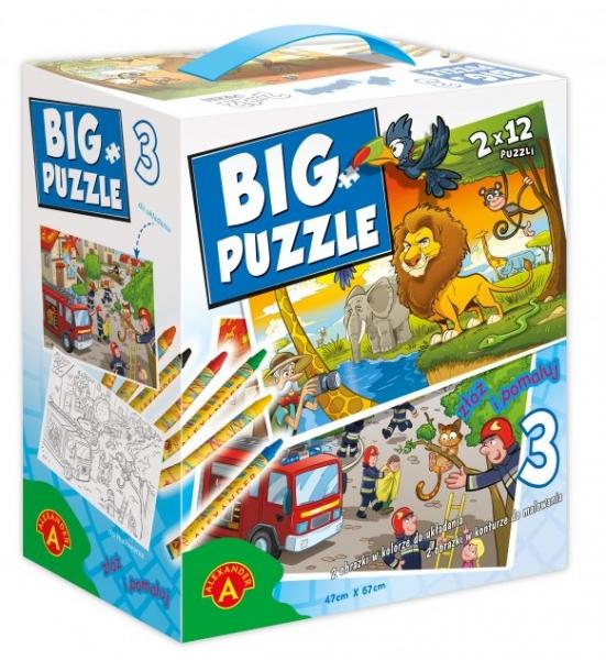 Big Puzzle 3 – Zwierzęta Afrykańskie/Straż Pożarna (2469)