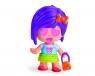 Pinypon City - laleczka Emoji 7cm z akcesoriami. Seria 9 - fioletowe włosy