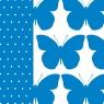 Serwetka BRIGHT BUTTERFLY blue