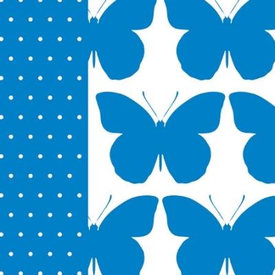 Serwetka BRIGHT BUTTERFLY blue SDL930005