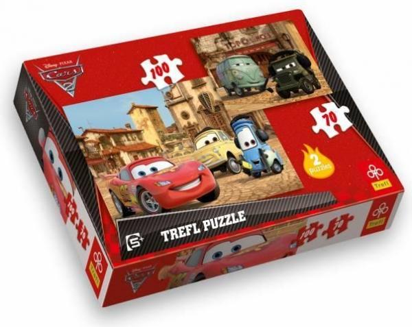 Cars 2 - Puzzle 2w1 - 100 elementów (34069)
