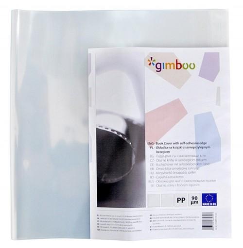 Okładka na książki A4 GIMBOO z samoprzylepnym brzegiem 30,5x54cm, 10 sztuk