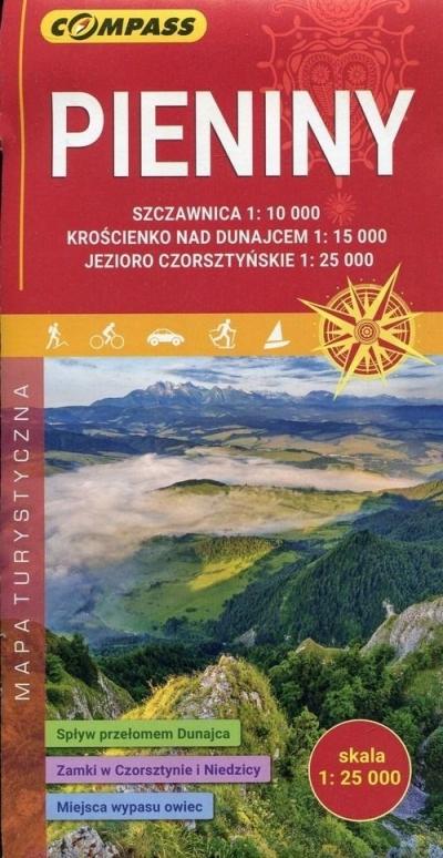 Mapa turystyczna - Pieniny 1:25 000 praca zbiorowa
